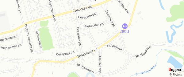 Бажовский переулок на карте Новоалтайска с номерами домов