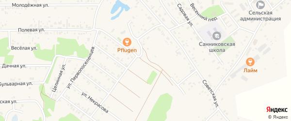 Улица Отрадное мкр Федора Белорукова на карте села Санниково с номерами домов