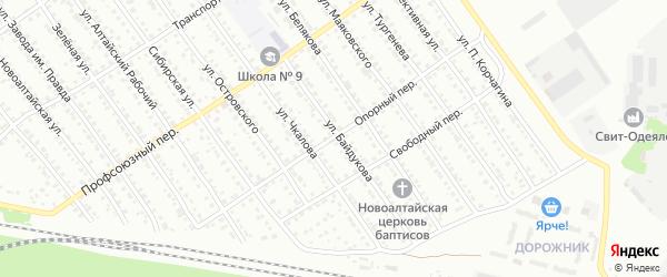 Опорный переулок на карте Новоалтайска с номерами домов