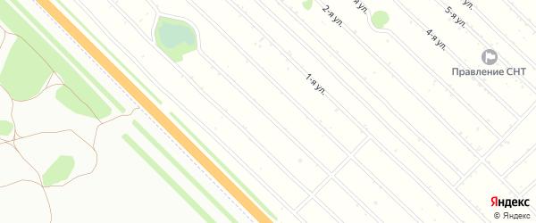 2-я улица на карте Янтарного садового некоммерческого товарищества с номерами домов