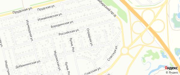 Отрадная улица на карте Новоалтайска с номерами домов