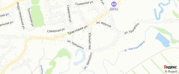 Южный переулок на карте Новоалтайска с номерами домов