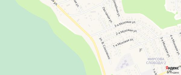 Центральная улица на карте села Фирсово с номерами домов