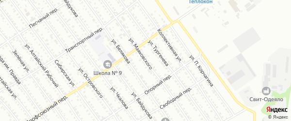 Улица Маяковского на карте Новоалтайска с номерами домов