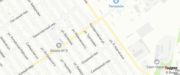 Улица Тургенева на карте Новоалтайска с номерами домов