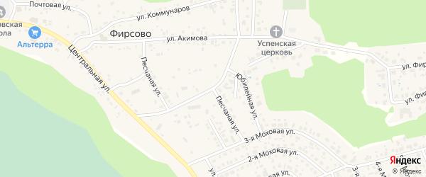 Песчаная улица на карте села Фирсово с номерами домов