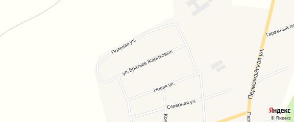 Улица Братьев Жариковых на карте села Антоньевки с номерами домов
