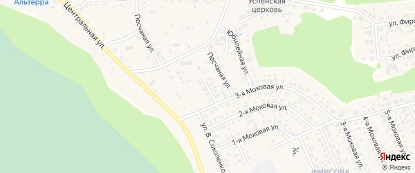 Большой Кленовый переулок на карте села Фирсово с номерами домов