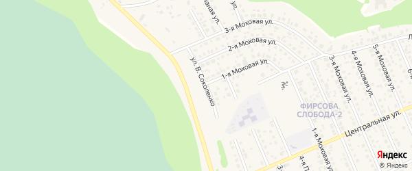 Улица В.Соколенко на карте села Фирсово с номерами домов