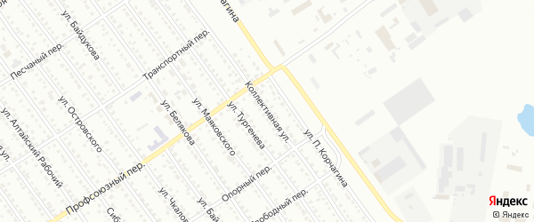 Коллективная улица на карте Новоалтайска с номерами домов