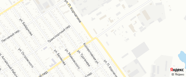 Улица П.Корчагина на карте Новоалтайска с номерами домов