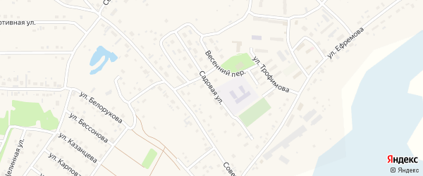 Садовая улица на карте села Санниково с номерами домов