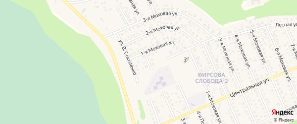 Малый Кленовый переулок на карте села Фирсово с номерами домов