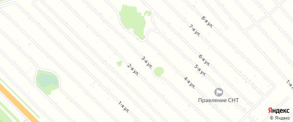3-я линия на карте садового некоммерческого товарищества Вагоностроителя-2 с номерами домов