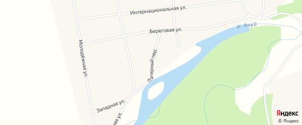 Лагерный переулок на карте села Антоньевки с номерами домов