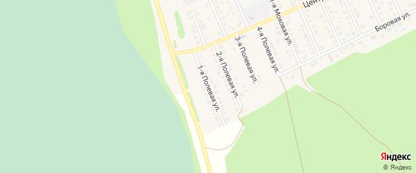 1-я Полевая улица на карте села Фирсово с номерами домов