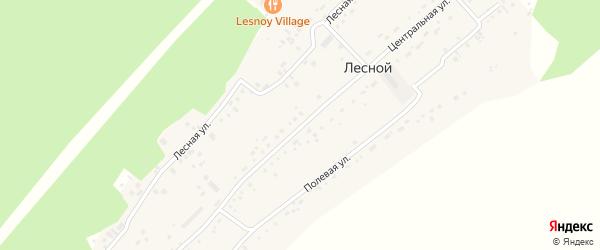 Центральная улица на карте поселка Лесная Поляна с номерами домов