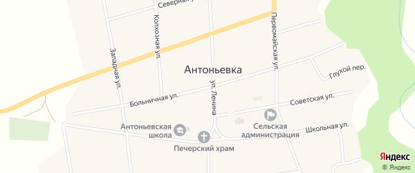 Больничная улица на карте села Антоньевки с номерами домов