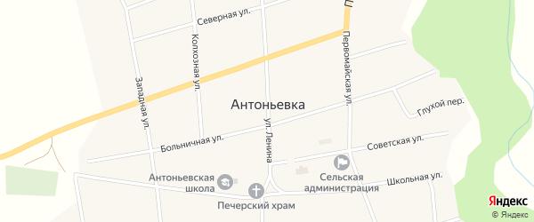 Улица Ленина на карте села Антоньевки с номерами домов