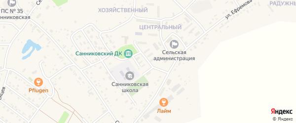 Улица Трофимова на карте села Санниково с номерами домов