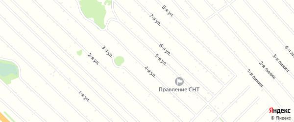 3-я улица на карте садового некоммерческого товарищества Феникса с номерами домов