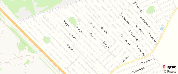 Карта садового некоммерческого товарищества Феникса в Алтайском крае с улицами и номерами домов