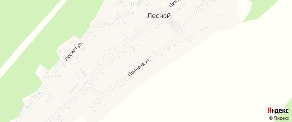 Полевая улица на карте Лесного поселка с номерами домов