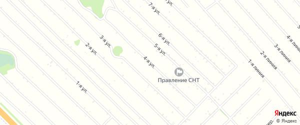 4-я улица на карте Янтарного садового некоммерческого товарищества с номерами домов