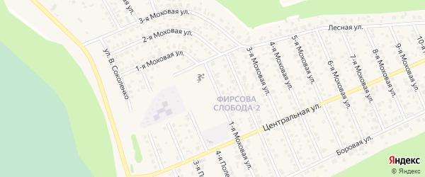 Моховая 1-я улица на карте села Фирсово с номерами домов