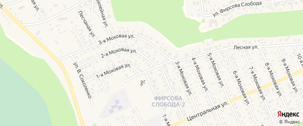 Моховая 2-я улица на карте села Фирсово с номерами домов