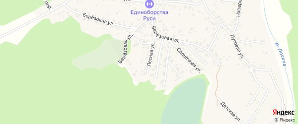 Лесная улица на карте садового некоммерческого товарищества Овощевода с номерами домов
