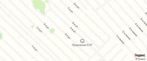 5-я линия на карте садового некоммерческого товарищества Надежды с номерами домов