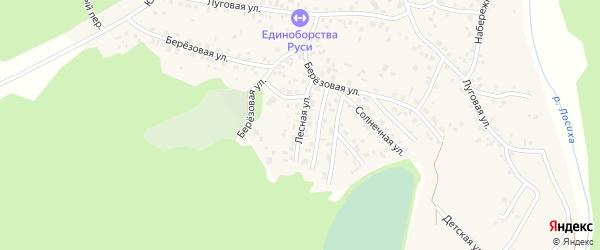 Лесная улица на карте села Санниково с номерами домов