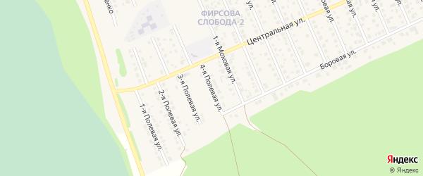 4-я Полевая улица на карте села Фирсово с номерами домов