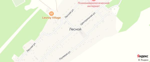 Березовый переулок на карте Лесного поселка с номерами домов