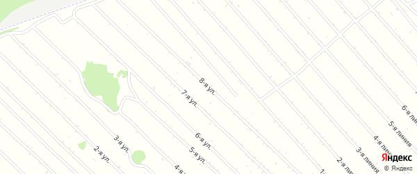 8-я улица на карте садового некоммерческого товарищества Феникса с номерами домов