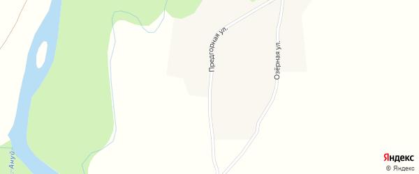 Предгорная улица на карте села Антоньевки с номерами домов