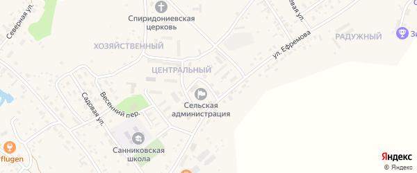 Новый переулок на карте села Санниково с номерами домов