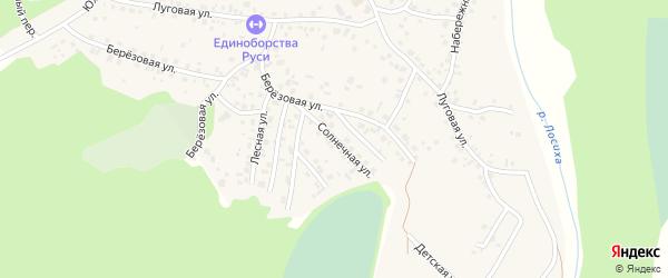 Солнечная улица на карте села Санниково с номерами домов