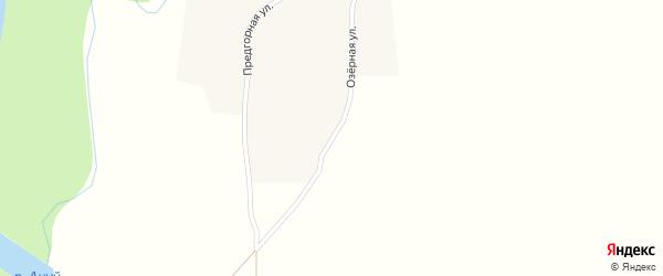 Озерная улица на карте села Антоньевки с номерами домов