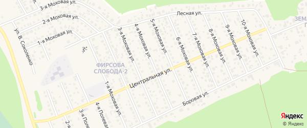 Моховая 4-я улица на карте села Фирсово с номерами домов