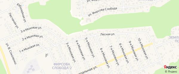 Лесная улица на карте разъезда Лосихи с номерами домов