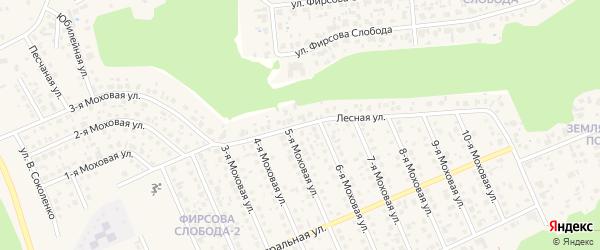 Лесная улица на карте садового некоммерческого товарищества Строителя НКРЗ с номерами домов
