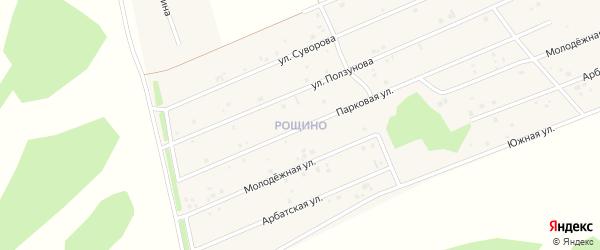 Улица Рощино мкр Суворова на карте села Фирсово с номерами домов