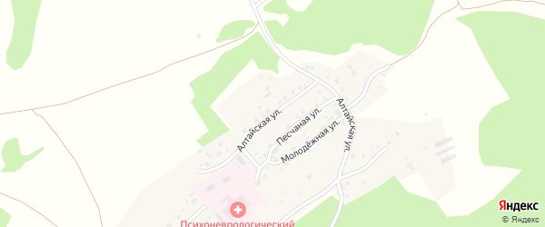 Алтайская улица на карте Лесного поселка с номерами домов