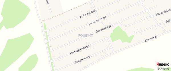 Улица Рощино мкр Мира на карте села Фирсово с номерами домов