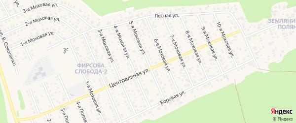 Моховая 5-я улица на карте села Фирсово с номерами домов