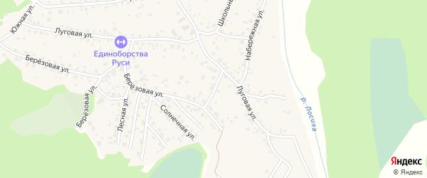 Березовая улица на карте села Санниково с номерами домов
