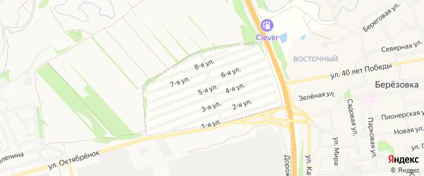 Карта садового некоммерческого товарищества Вагоностроителя-1 в Алтайском крае с улицами и номерами домов