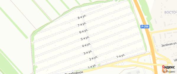 5-я улица на карте садового некоммерческого товарищества Вагоностроителя-1 с номерами домов